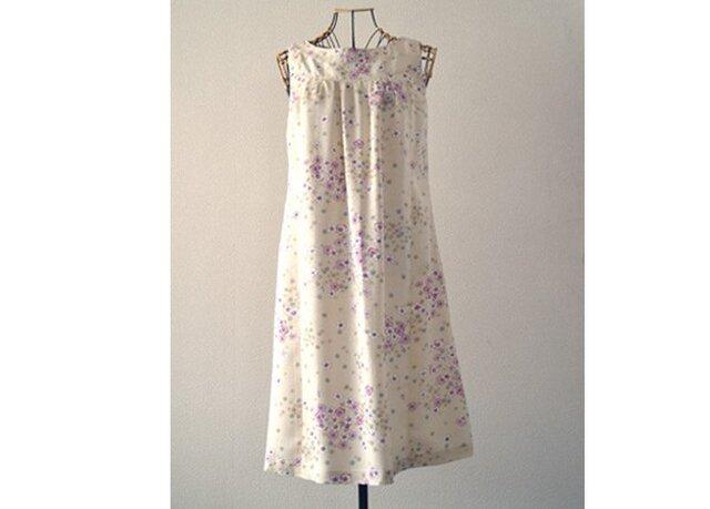 着物リメイク:花咲くはるいろワンピースの画像1枚目