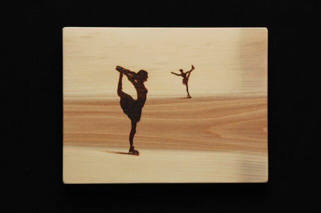 フィギュアスケート (焼き板絵)の画像1枚目
