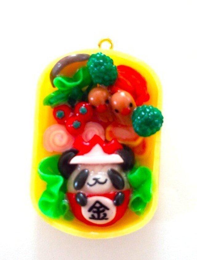 端午の節句★金太郎パンダ弁当ストラップの画像1枚目