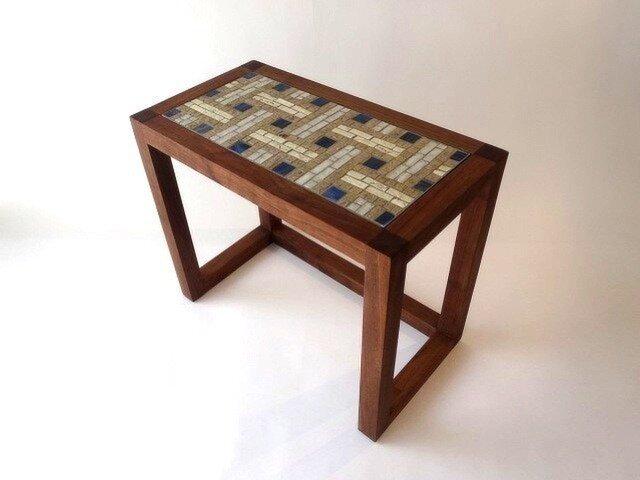 『H』akka Table (M)青 H350mmの画像1枚目