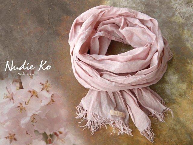 [N様オーダー作品] 草木染ストール 桜-sakura-  の画像1枚目