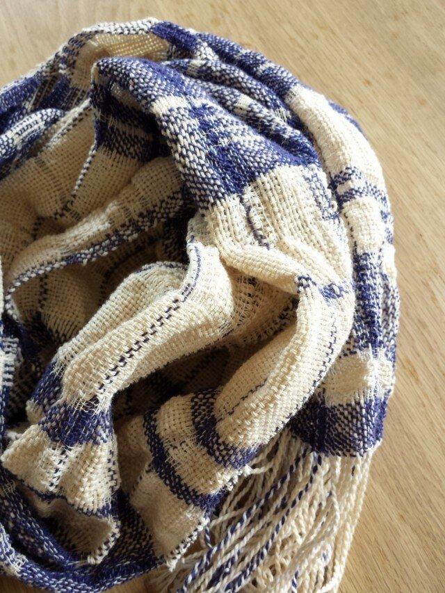 【手織り】木綿のストール#05の画像1枚目