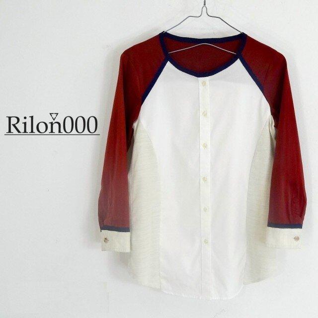 ≪リメイク1点物≫異素材MIXシャツ:M Sizeの画像1枚目