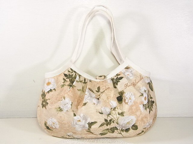 小さめグラニーバッグ「White Rose(ベージュ)」の画像1枚目