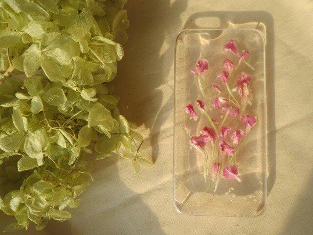 iPhone5 5s【立体的】ピンクフラワーの画像1枚目