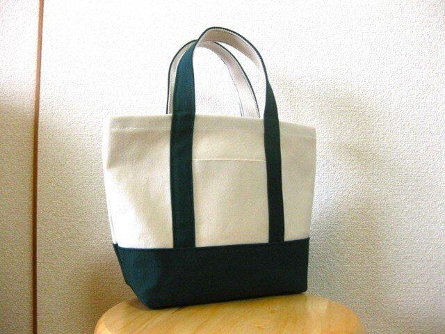 帆布ミニトートバッグ 緑の画像1枚目