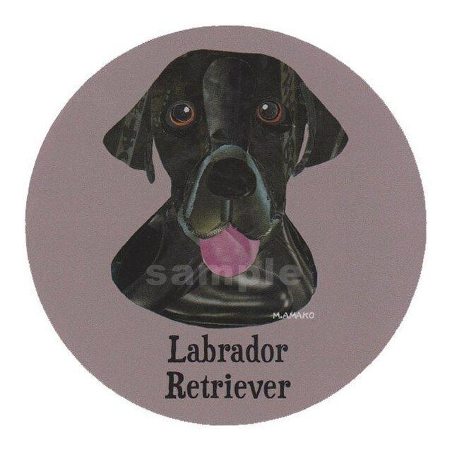 ラブラドール レトリバー/黒《犬種名ステッカー/大型犬》の画像1枚目