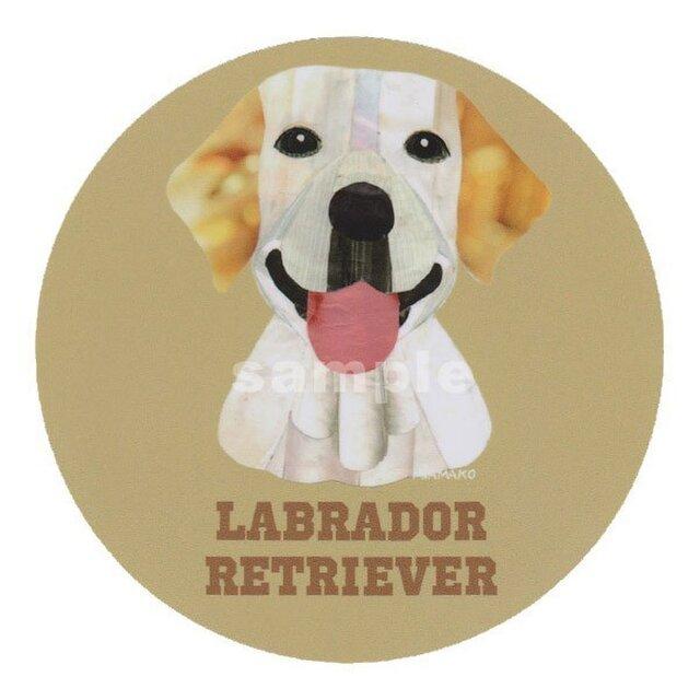ラブラドール レトリバー /イエロー《犬種名ステッカー/大型犬》の画像1枚目