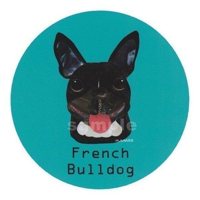 フレンチ ブルドッグ/黒《犬種名ステッカー/小型犬》の画像1枚目