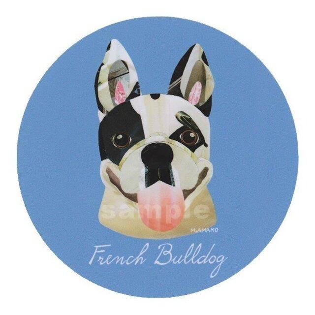 フレンチ ブルドッグ/パイド2《犬種名ステッカー/小型犬》の画像1枚目