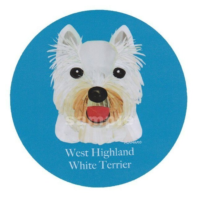 ウェスト ハイランド ホワイト テリア《犬ステッカー/小型犬》の画像1枚目