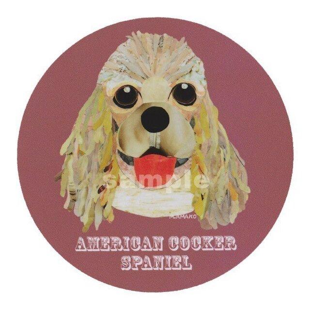 アメリカンコッカースパニエル/フォーン《犬名ステッカー/小型犬》の画像1枚目