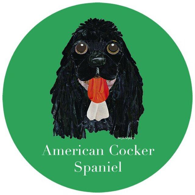 アメリカン コッカー スパニエル/黒《犬種名ステッカー/小型犬》の画像1枚目