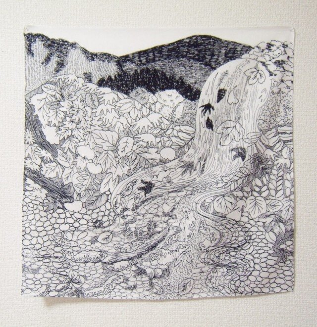 つくもおうじょ たつたひめ 綿サテンハンカチの画像1枚目