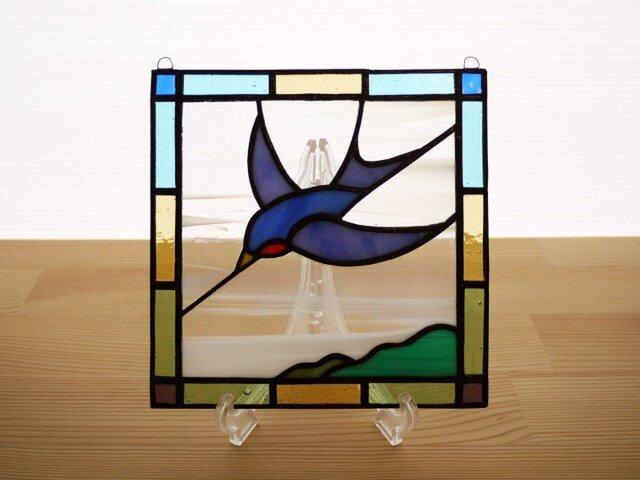 ステンドグラス ミニパネル バード 15cmの画像1枚目
