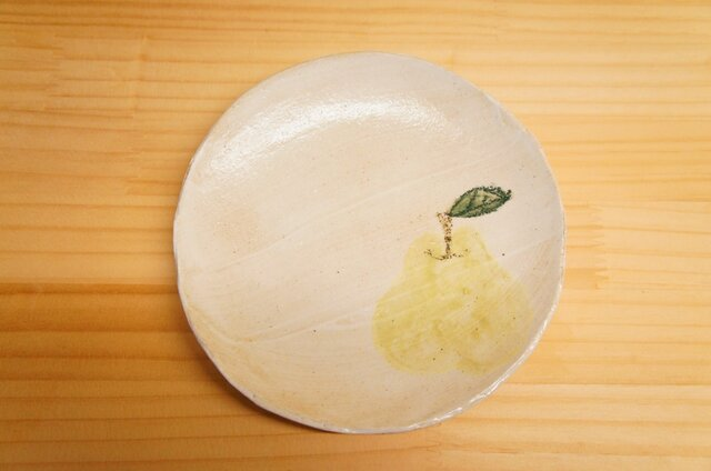 粉引の洋ナシケーキ皿の画像1枚目