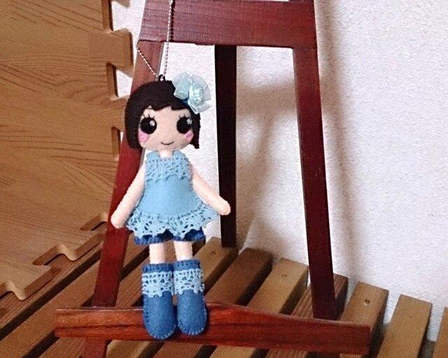 着せ替えフェルト人形根付NO.27の画像1枚目