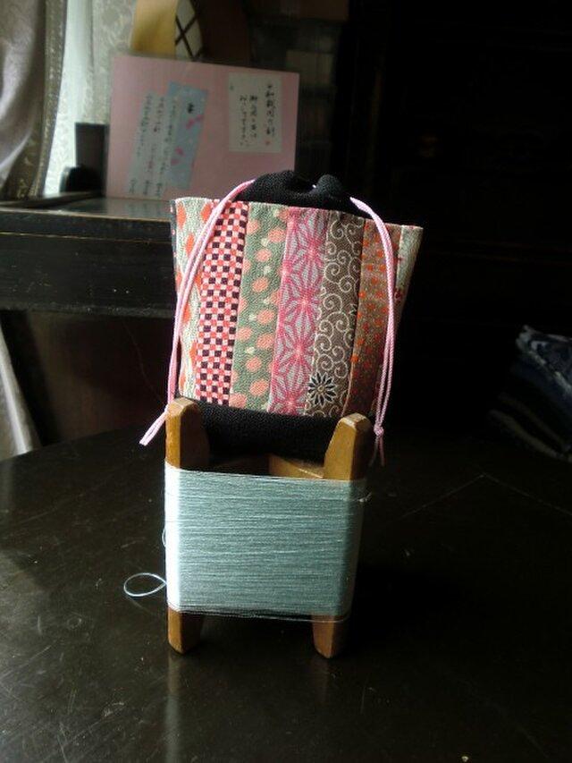 錦紗つなぎの巾着袋 -その弐ーの画像1枚目