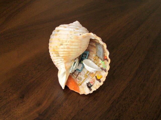 貝がら ミニチュア アヒルちゃんの画像1枚目