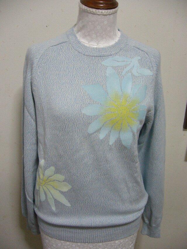 型染めのセーターの画像1枚目