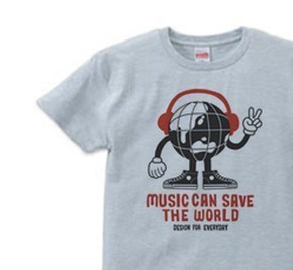 ヘッドフォン&アースマン S~XL  Tシャツ【受注生産品】の画像1枚目