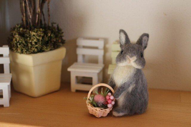 花摘み☆手乗り羊毛うさぎサン☆ネザーの画像1枚目