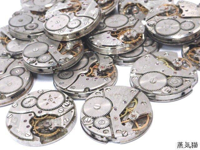 機械式時計ムーブメント 1個【スチームパンク歯車 時計パーツ】の画像1枚目