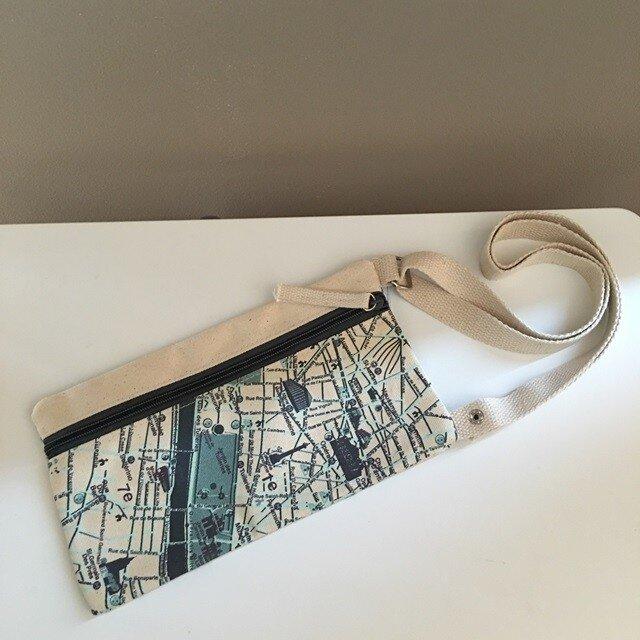 キャンバストートマップ エアチケットポーチ パリの画像1枚目