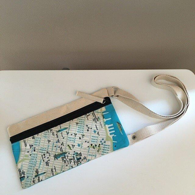 キャンバストートマップ エアチケットポーチ ニューヨークの画像1枚目