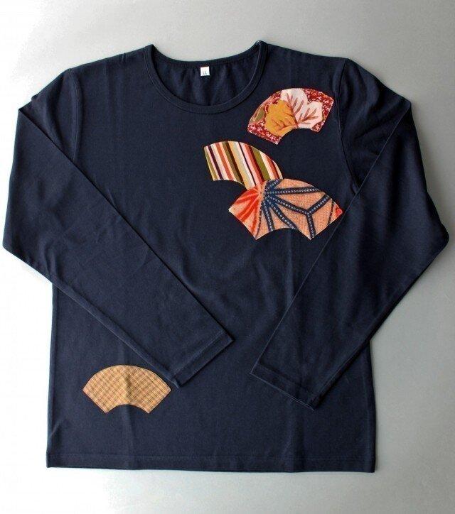 扇*fan リメイクTシャツの画像1枚目