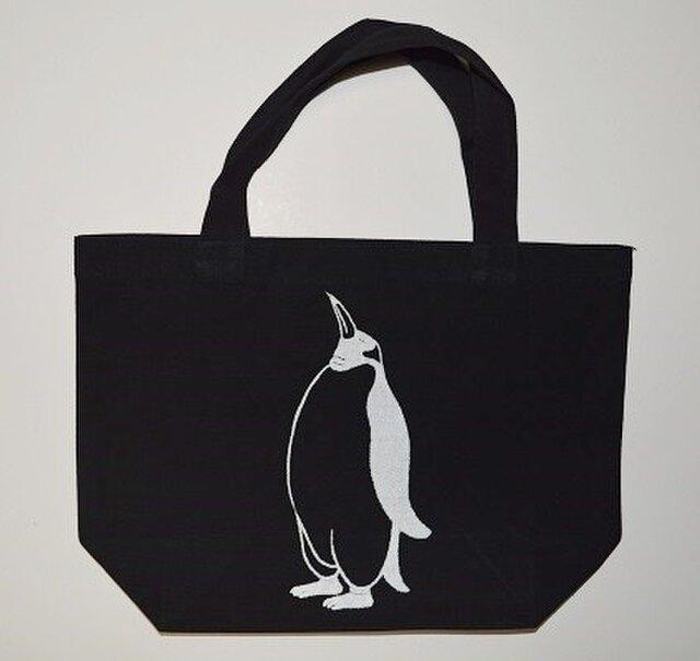 ペンギントートバッグ、黒、ペンギン、penguin, 送料無料の画像1枚目