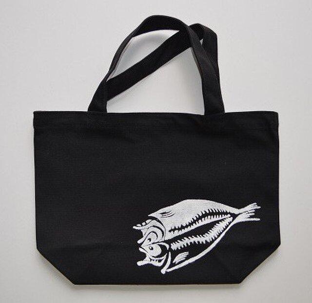 アジの開きトートバッグ、魚、釣り, 送料無料の画像1枚目