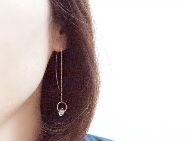 K10 Herkimer Diamond Earringsの画像1枚目