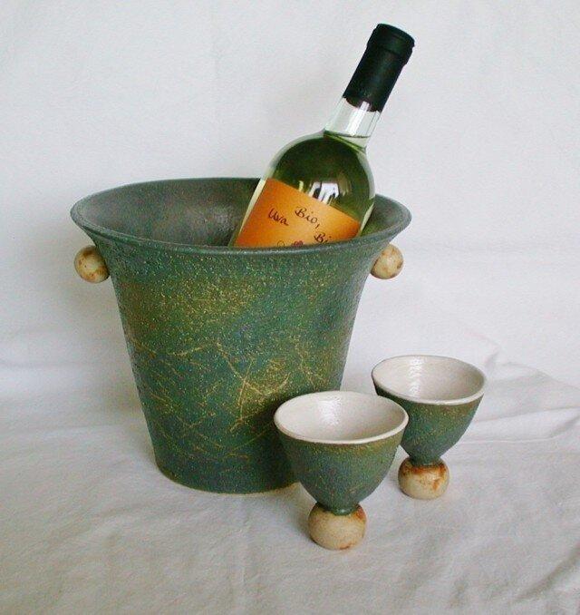 セットでお得! ワインクーラー&2カップ(N-30)の画像1枚目