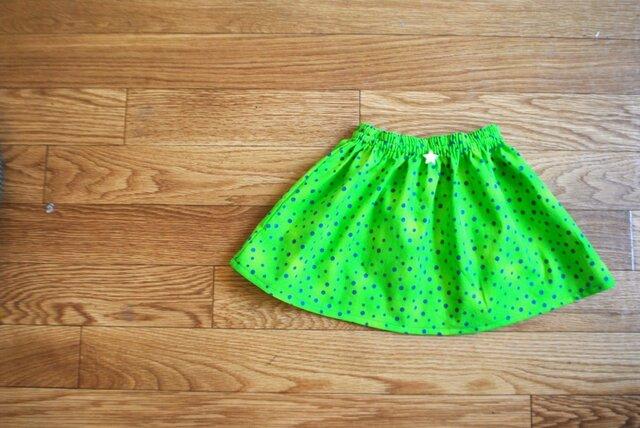 星のミニスカート90〜100(グリーン)の画像1枚目