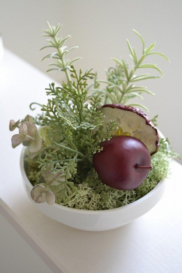 kitchen green L(red apple)の画像1枚目