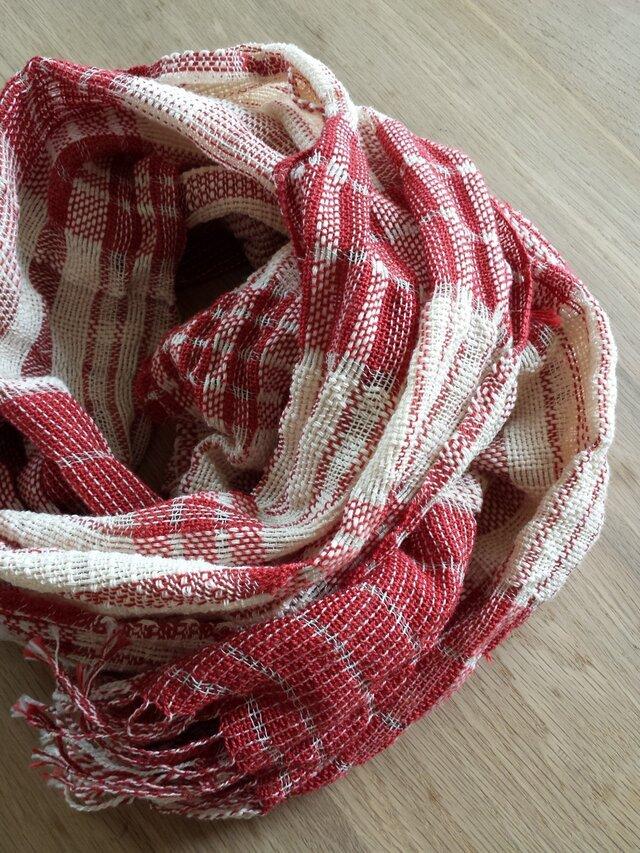 【手織り】木綿のストール#10の画像1枚目
