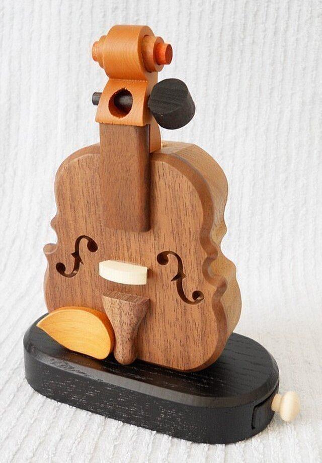 バイオリン型飛び出す印鑑入れの画像1枚目