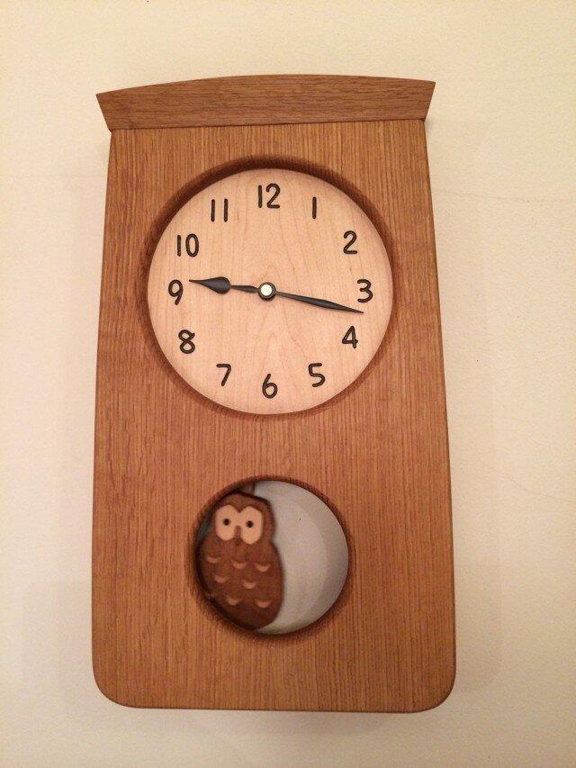 A様ご注文 ふくろうの振り子時計の画像1枚目