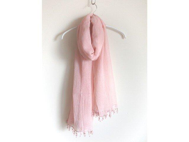 【ピンク】肌にやさしい 医療用ガーゼストール◆手染め/エコ染料の画像1枚目