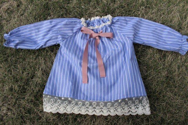 子供スモックシャツチュニック◆S◆90~100cmの画像1枚目