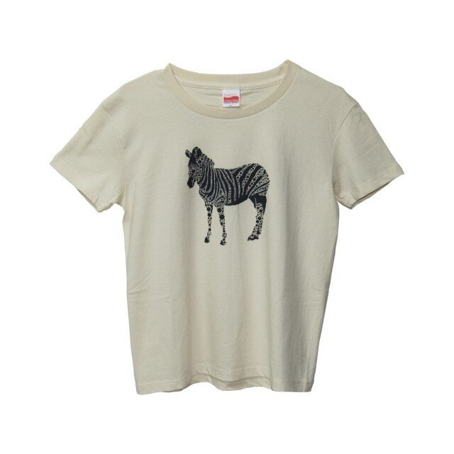 6.2oz Tシャツ GL(Girls-L) しまうまの画像1枚目