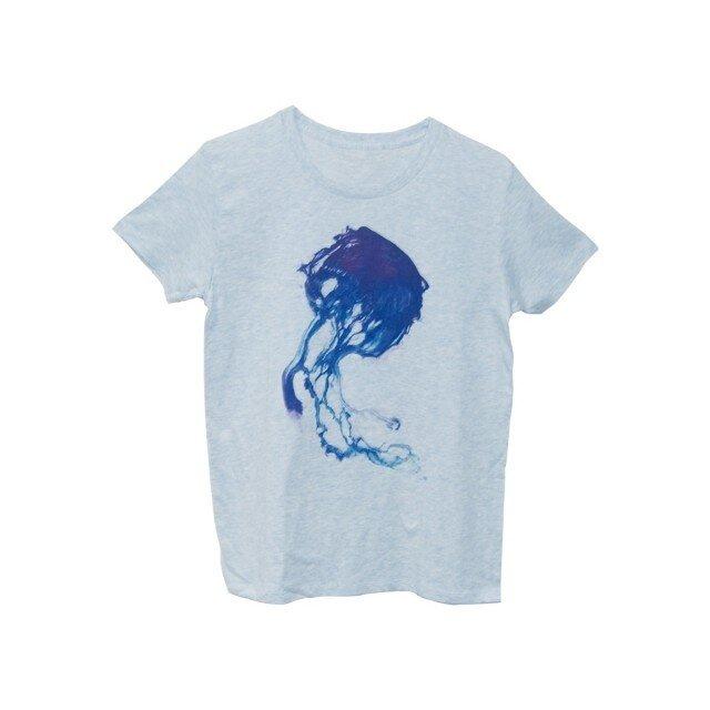 4.3oz Tシャツ melange blue S クラゲの画像1枚目