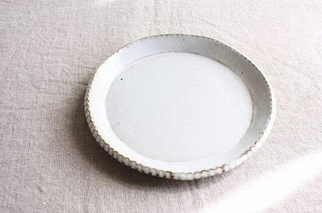 gizagizaリム皿(中/白)の画像1枚目