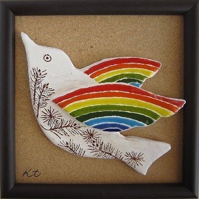 夢鳥~陶板の画像1枚目