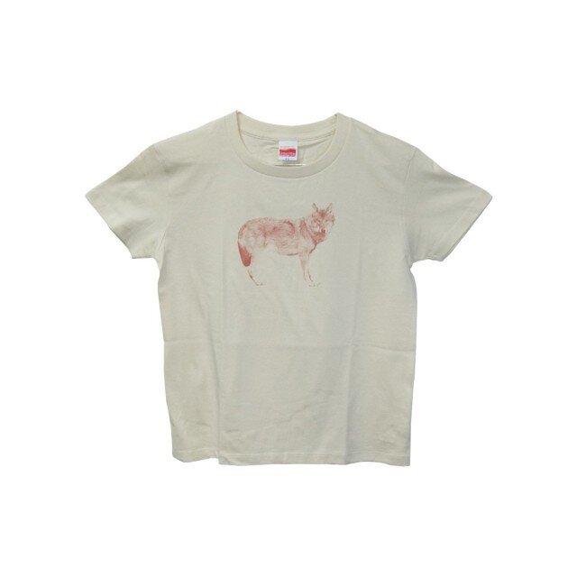 6.2oz Tシャツ GL(Girls-L) オオカミの画像1枚目