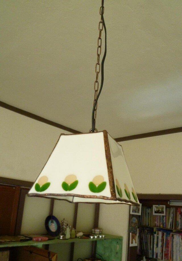 お花ランプ(もも色)吊り下げタイプの画像1枚目