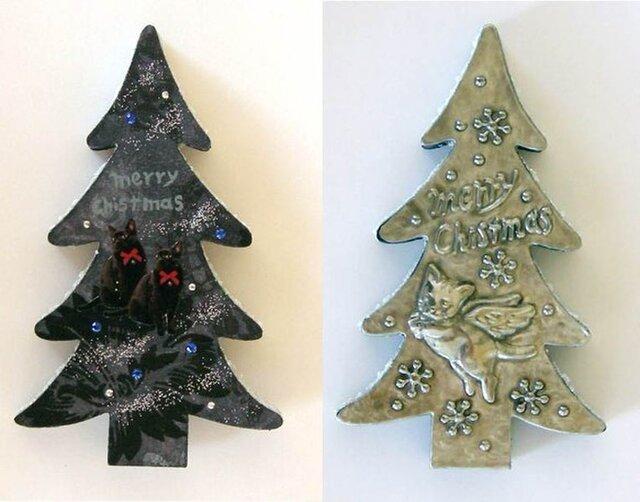 猫のクリスマスツリー1の画像1枚目