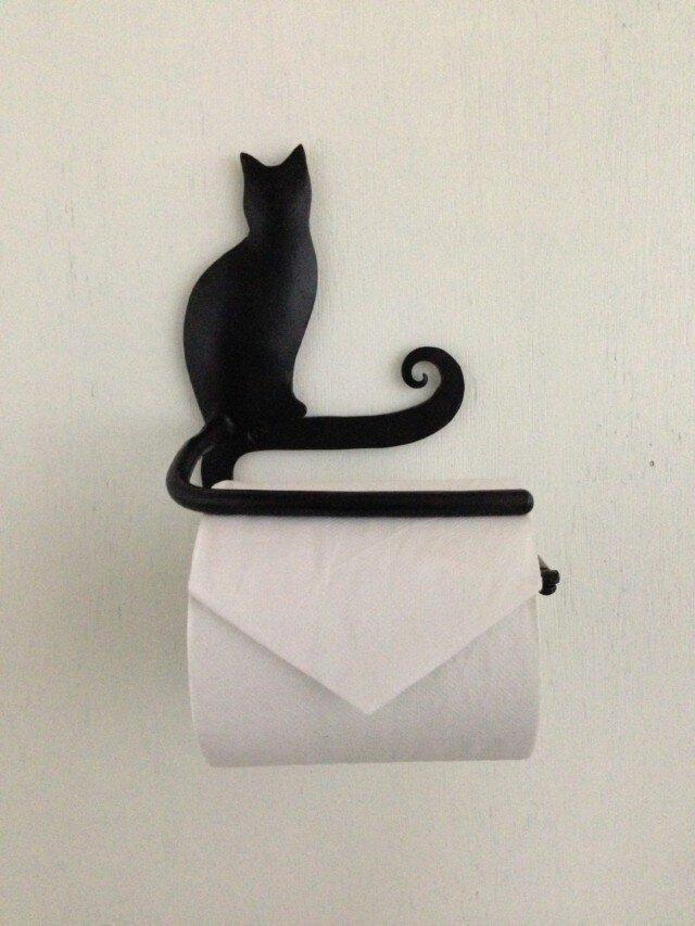 猫のペーパーホルダーの画像1枚目