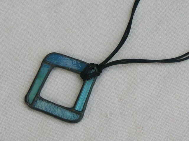 ステンドグラス ペンダント&グラスホルダー 青の画像1枚目